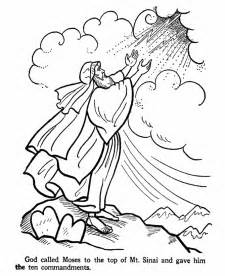 ten commandments coloring pages moses on mt sinai faith formation ideas