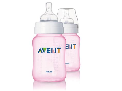 Avent 2 0 Feeding Bottle 125ml Pink sikecikcomel philips avent feeding bottle 2 x 260ml special edition blue pink