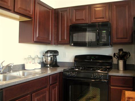 Black Cabinets In Kitchen Kitchen Kitchen Color Ideas With Oak Cabinets And Black Appliances Wainscoting Closet