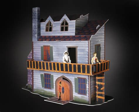 figure house sdcc exclusive reaction figures haunted house playset