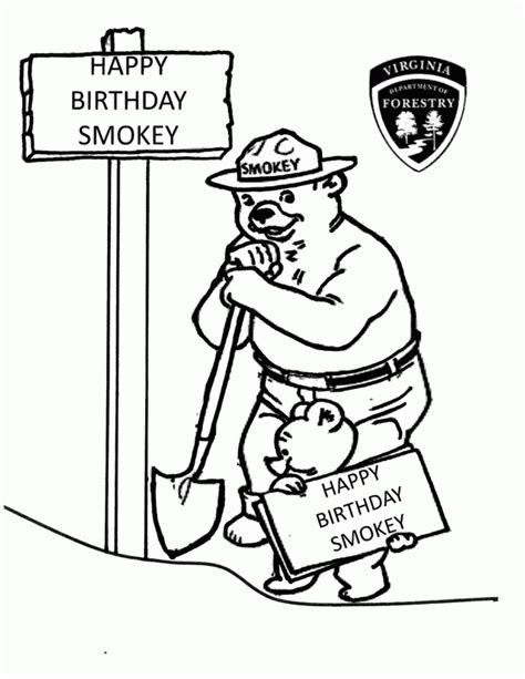 coloring pages smokey the bear smokey bear coloring pages coloring home