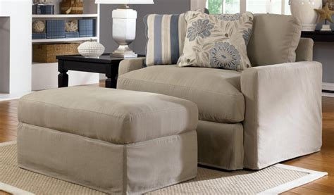 Slipcover Chair And Ottoman Oversized Chair And Ottoman Slipcover Chairs Seating