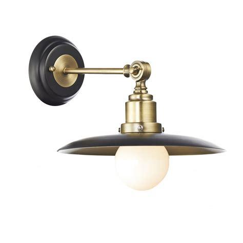 retro antique brass black wall light insulated