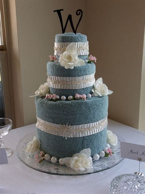 how to make a towel cake for bridal showers wedding
