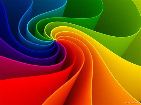 rainbow wave spin wallpaper   hd wallpaper