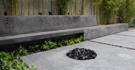 concrete patio bench modern concrete patio cheng concrete exchange