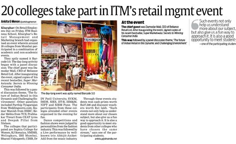 Itm Kharghar Mba by Itm Of Institutions Management Of Business