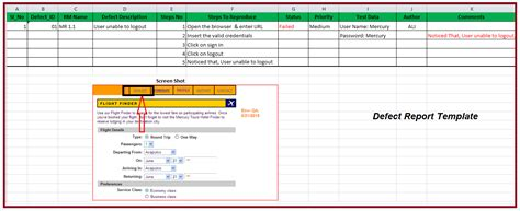 28 defect report template 7 bug report template