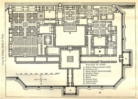 layout plan of red fort redfortdrawings