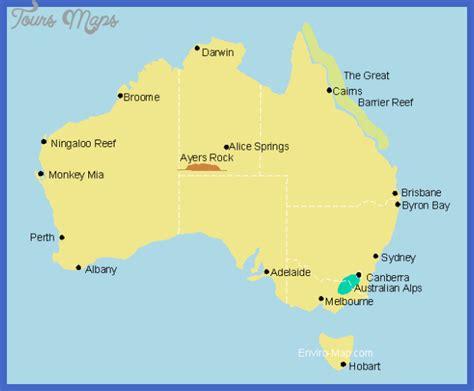 map around australia australia map tourist attractions toursmaps