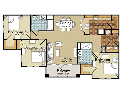 Floor Plans For A Three Bedroom House | affordable house plans 3 bedroom modern 3 bedroom house