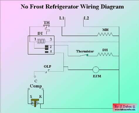 no refrigerator wiring diagram
