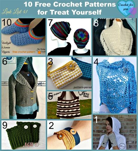 pattern yourself after 10 free crochet patterns for treating yourself after