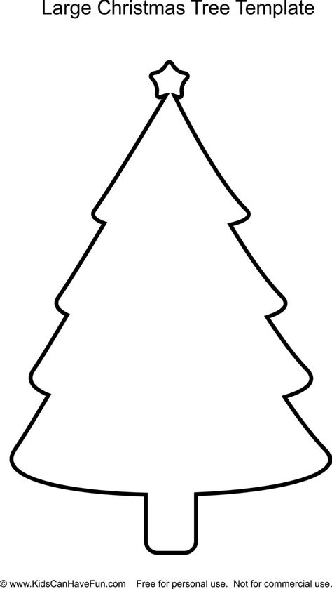 large christmas tree template http www kidscanhavefun