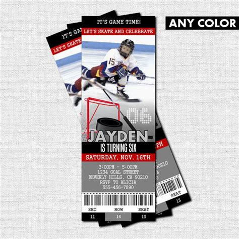 printable birthday invitations hockey theme 7 best hockey party images on pinterest hockey party