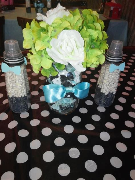 Bow Tie Baby Shower Centerpieces by Bow Ties And Bottles Themed Baby Shower Centerpieces