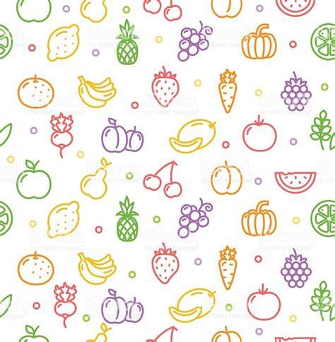 vegetables pattern wallpaper fruits and vegetables background pattern vector stock