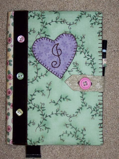 Creative Handmade Book Covers - when gives you scraps make quilts make a handmade