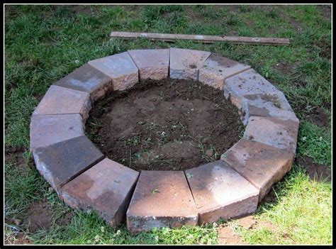 Homeroad Building A Fire Pit How To Build A Firepit With Pavers