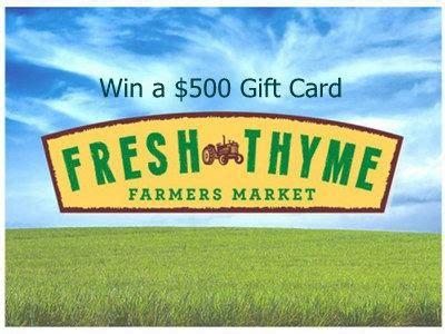 Fresh Thyme Market Gift Card - www freshthyme com survey win a 500 fresh thyme farmers market gift card through