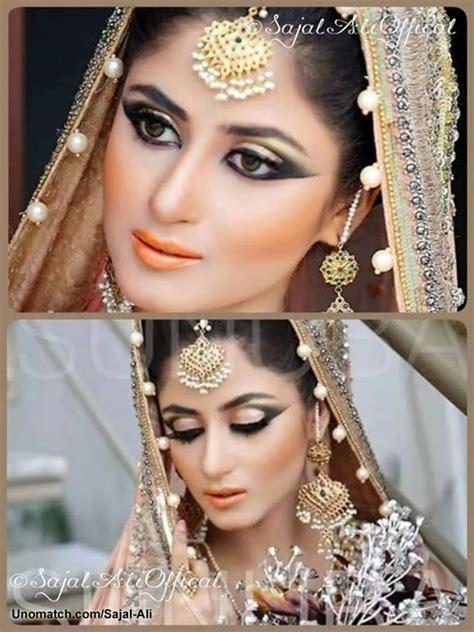 sajal ali ali and makeup on pinterest sajalali new look in wedding dress www unomatch com