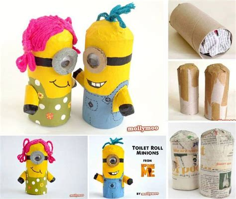 minion diy crafts toilet paper roll minions diy crafts