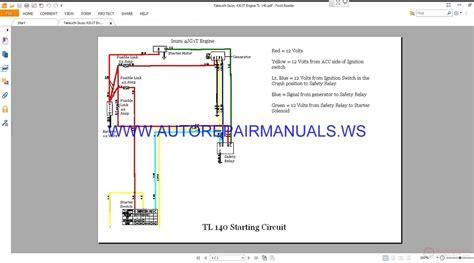 takeuchi tl120 tl200 hydraulic circuit electrical wiring