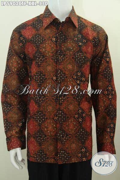 Hem Batik Pria Katun Premium Ukuran Jumbo Hrb 055 jual baju hem batik lengan panjang kwalitas premium