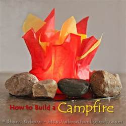 How To Make Flames Out Of Tissue Paper - preschool crafts for summer cfire tissue craft