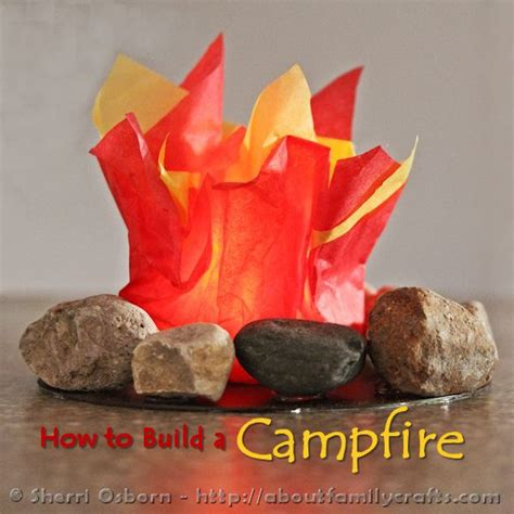 How To Make A Paper Cfire - preschool crafts for summer cfire tissue craft