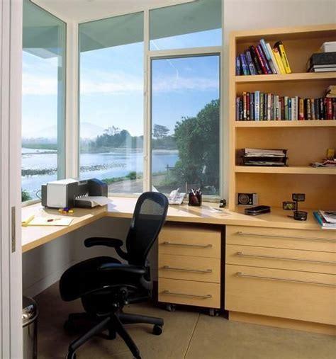 Space Saving Built In Office Furniture In Corners Built In Corner Desk Ideas