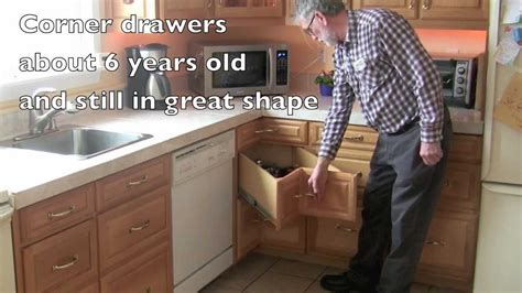 Kitchen Cabinets Dimensions by Homemade Kitchen Corner Drawers Youtube