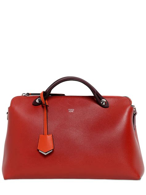 Fendi By The Way Satchel Hardware Silver Like Ori Leather 10121p 5 lyst fendi large by the way leather bag in