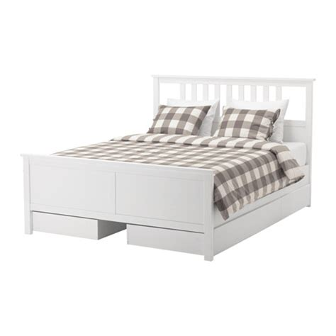 Ikea Hemnes Bed Frame Dimensions Hemnes Bed Frame With 4 Storage Boxes White Stain Lur 246 Y