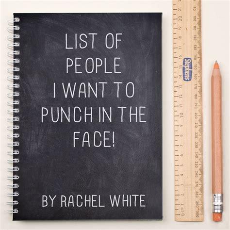 personalised notebook list of gettingpersonal co uk