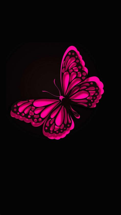 iphone wallpaper hd pink butterfly  cute wallpapers