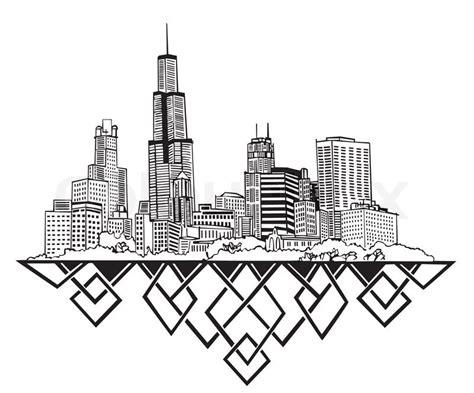 city skyline drawing  getdrawingscom