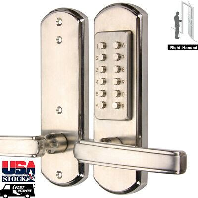 entry exterior  handle pick proof keyless mechanical