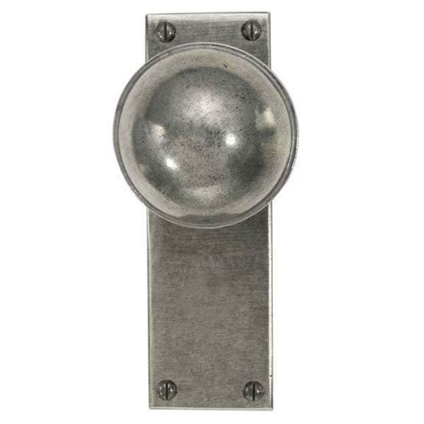 beamish door knob on latch plate solid pewter broughtons
