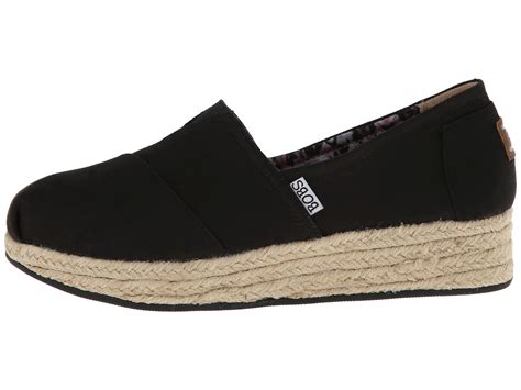 bobs wedge shoes bobs from skechers wedge espadrille memory foam zappos