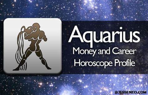 aquarius money and career horoscope profile 2015