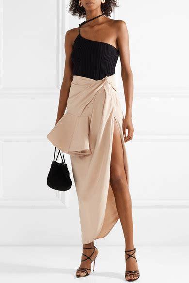 Net A Porter Sale Dressing Like A Just Got Cheaper by Jacquemus Sol Ruffled Asymmetric Crepe Midi Skirt Net