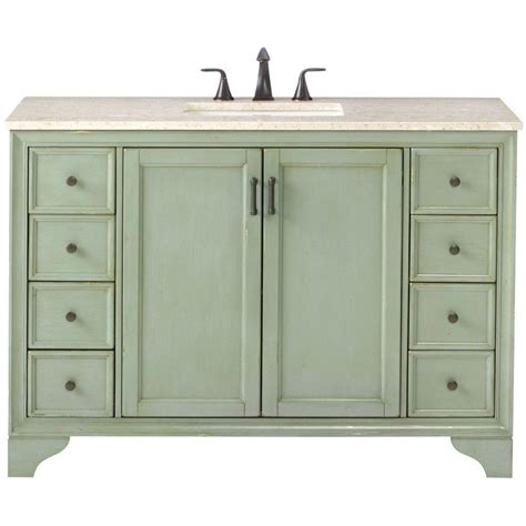 green vanity bathroom home decorators collection hazelton 49 in w x 22 in d bath vanity in antique green