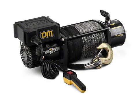tjm wrangler 12 000 lb torq winch w synthetic rope