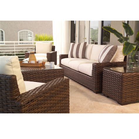 Outdoor Living Room Set by Lloyd Flanders Contempo Wicker Outdoor Living Room Set