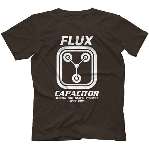flux capacitor shirt flux capacitor back to the future t shirt 100 cotton delorean marty ebay