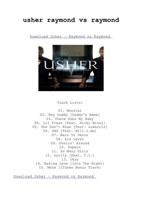 raymond vs raymond album download usher raymond vs raymond album download