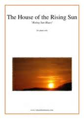 house of the rising sun organ solo sheet music the house of the rising sun sheet music for piano solo