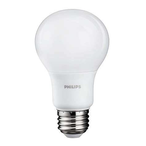 Philips Led Light Bulb 60 Watt Philips 8 Watt A19 60 Watt Replacement 800 Lumen Daylight Led Light Bulb 2 Pack Ebay