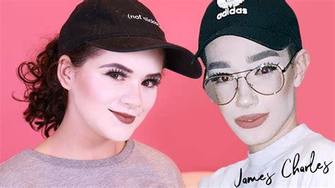 james charles recreating flashback mary i tried following james charles makeup tutorial flashback